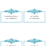 Table Place Card Template Free Download