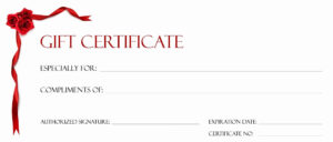 017 Free Printable Gift Certificates Template Ideas T Bunch with regard to Homemade Christmas Gift Certificates Templates