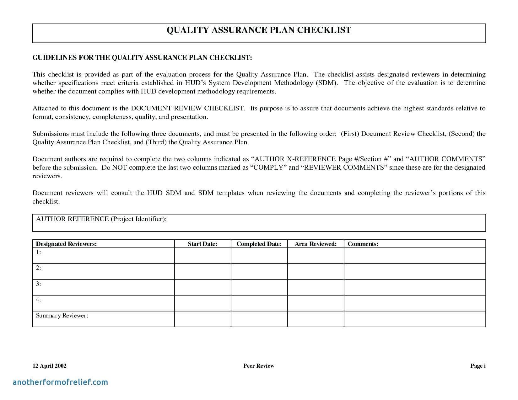017 Qc Plan Template Software Quality Assurance Report Pertaining To Software Quality Assurance Report Template
