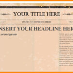Old Blank Newspaper Template