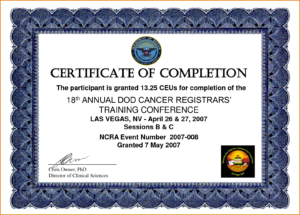 017 Template Ideas Certificate Of Training Templates For Inside Free Training Completion Certificate Templates