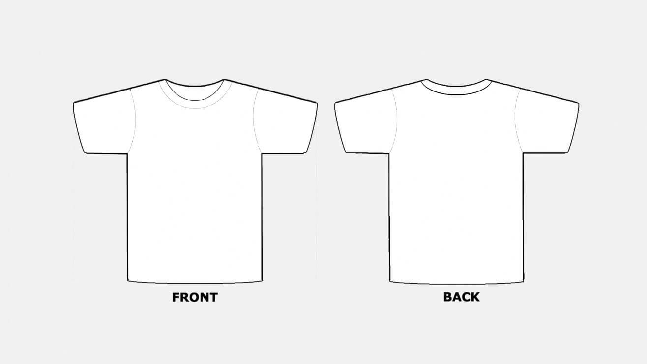 018 Blank Tshirt Template Pdf T Shirt Templates Free In Printable Blank Tshirt Template
