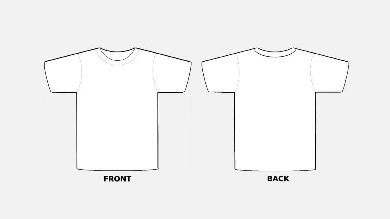 018 Blank Tshirt Template Pdf T Shirt Templates Free With Regard To Blank Tshirt Template Pdf