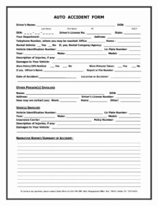 018 Car Accident Report Template Then Form Uk Or Ideas inside Mi Report Template