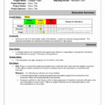 018 Project Status Report Template Excel Software Testing With Testing Daily Status Report Template