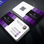 019 Download Free Modern Business Card Template Psd Set With Regard To Photoshop Business Card Template With Bleed