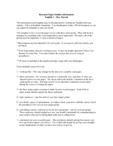 019 Examples Of Thesis Statements For Researchs Template throughout Word Apa Template 6Th Edition