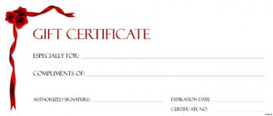 019 Gift Certificate Template Free Download Perfect Format regarding Custom Gift Certificate Template