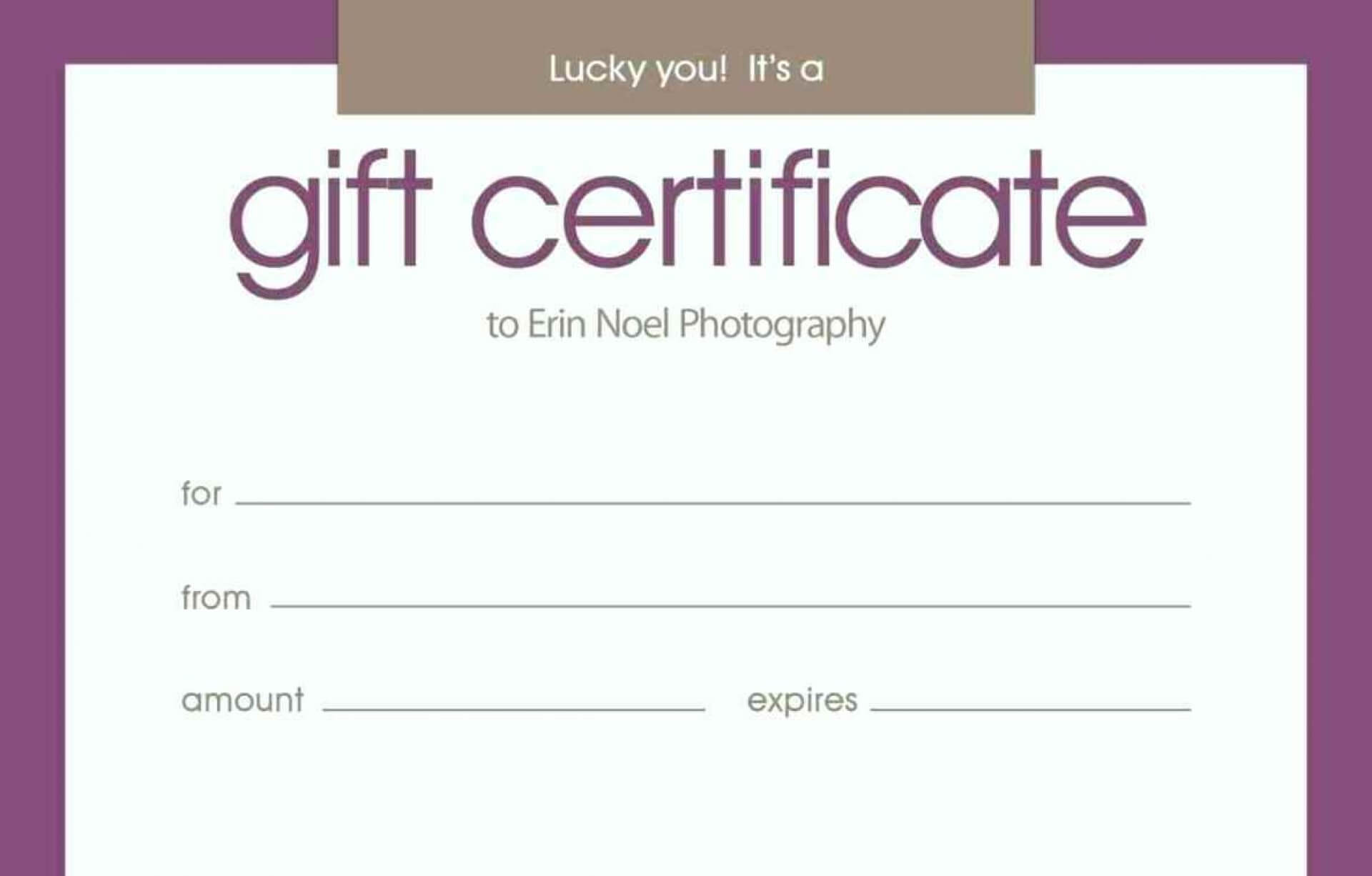 020 Birthday Gift Certificate Template Free Printable Within Massage Gift Certificate Template Free Download