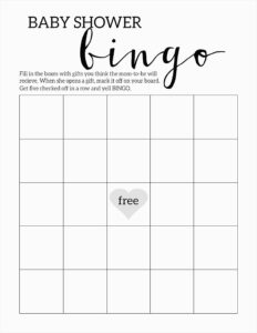 020 Blank Bingo Card Template Microsoft Word Beautiful Cool with Blank Bingo Template Pdf