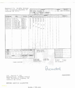 020 College Report Card Template Fake Elegant Student Free in College Report Card Template