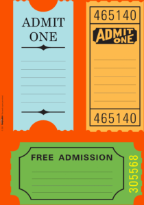 020 Free Printable Ticket Template Templates Travel Tickets inside Blank Admission Ticket Template