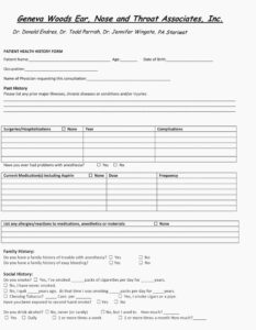 020 Patient Medical History Form Template Fresh Why Is intended for Medical History Template Word