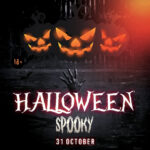 020 Printable Halloween Flyer Templates Elegant Party Of With Regard To Dance Flyer Template Word