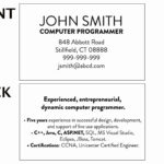 020 Student Business Card Template College Unique Cards With Student Business Card Template