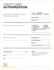 021 Credit Card Authorization Form Template Word Free Excel Pertaining To Credit Card Size Template For Word