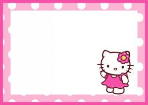 021 Free Printable Invitation Templates Template Ideas Hello within Hello Kitty Birthday Card Template Free