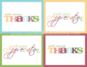021 Free Printable Thank You Cards Thanksgiving Giftofthanks for Christmas Thank You Card Templates Free