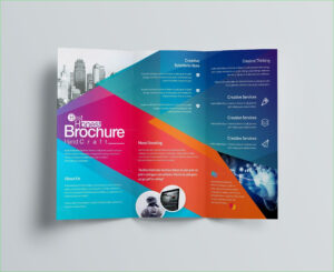 021 Modern Tri Fold Brochure Design Ispiratore Adobe in Adobe Illustrator Brochure Templates Free Download