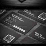 021 Social Qr Code Back Of Business Card Template Ideas Cool With Qr Code Business Card Template