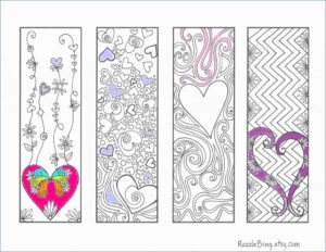 022 Printable Coloring Bookmarksf Lovely Blank Bookmark pertaining to Free Blank Bookmark Templates To Print