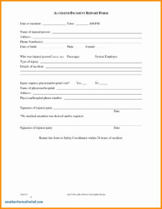 022 Template Ideas Accident Report Forms Incident Hazard within Incident Hazard Report Form Template