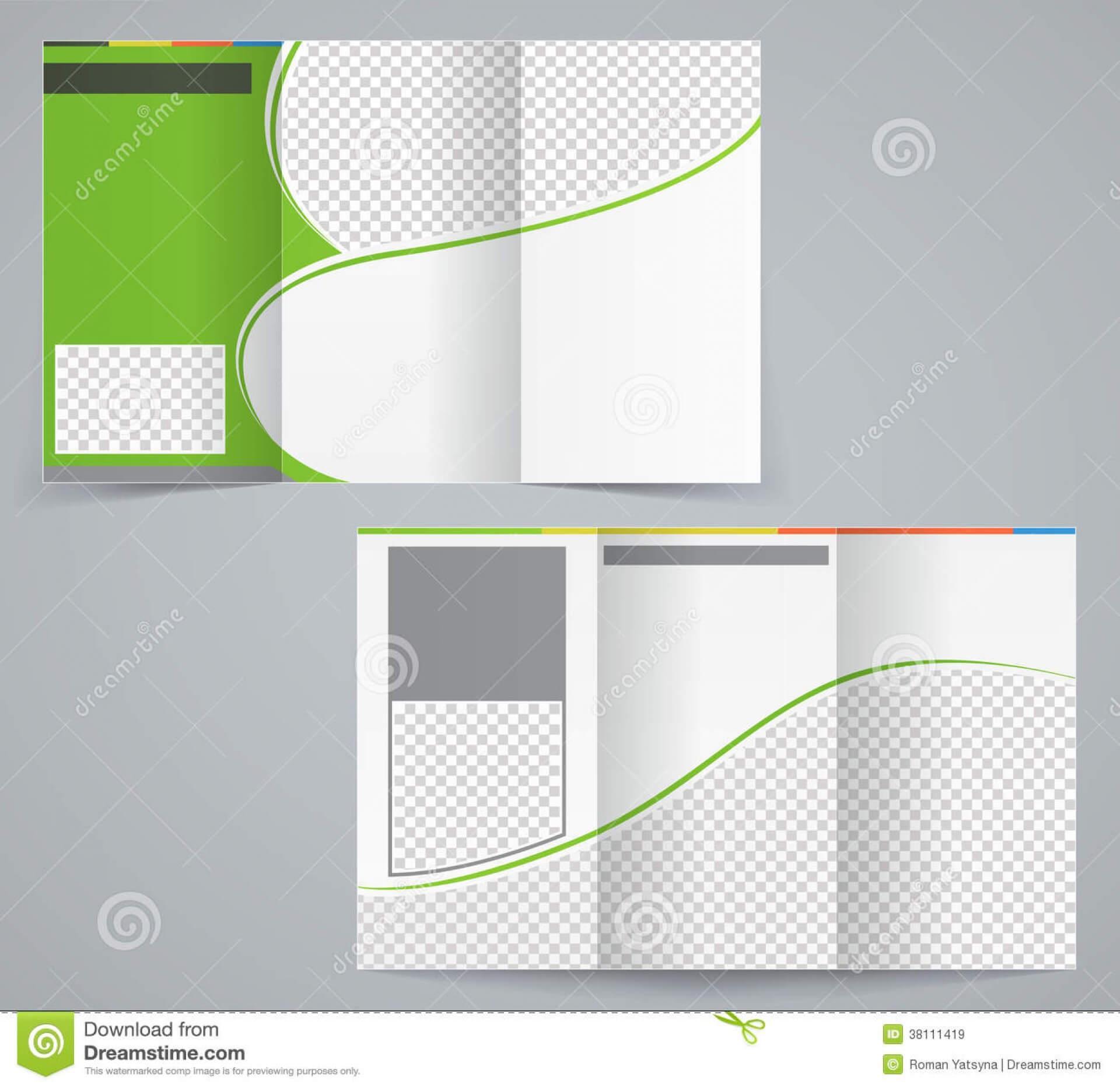 022 Tri Fold Business Brochure Template Vector Green Design For Brochure Template Illustrator Free Download