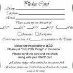 023 Free Pledge Card Template Of Sheets For Fundraising For Free Pledge Card Template