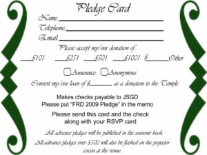 023 Free Pledge Card Template Of Sheets For Fundraising throughout Donation Card Template Free
