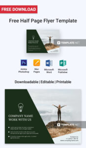 023 Half Page Flyer Template Free Ideas Best Of Quarter For Quarter Sheet Flyer Template Word
