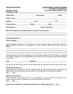 023 School Registration Form Template Word 102813 Ideas Free in Registration Form Template Word Free
