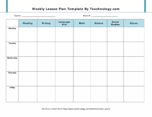 023 Weekly Teacher Lesson Plan Template Word Document Luxury throughout Blank Syllabus Template