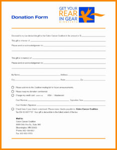 024 Template Ideas Charity Pledge Form Then Card For Church pertaining to Donation Cards Template