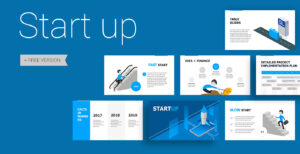 025 Start Up Free Powerpoint Presentation Template Download intended for Powerpoint Slides Design Templates For Free