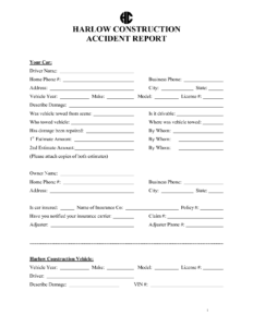 026 Incident Report Form Template Word And Construction for Construction Accident Report Template