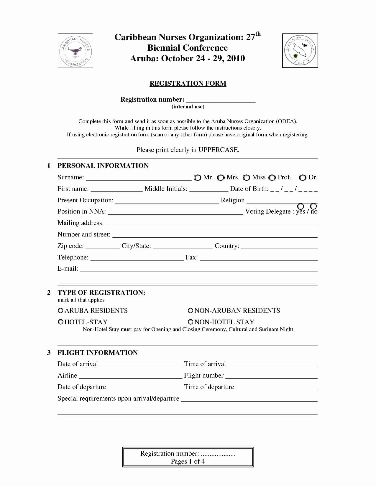 027 Camp Registration Form Template Word Luxury Printable With Regard To Camp Registration Form Template Word