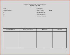 027 Care Plan Template Nursing Best Of Templates Blank pertaining to Nursing Care Plan Templates Blank