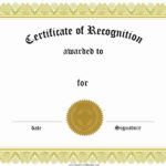 027 Certificate Of Achievement Template Word Excellence Intended For Retirement Certificate Template