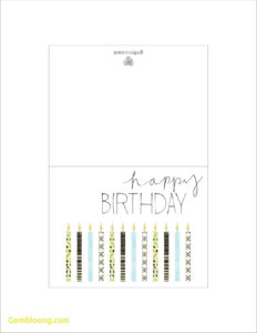 027 Printable Birthday Card Template Ideas Cards Foldable for Card Folding Templates Free