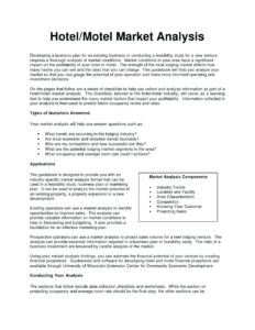 030 Business Plan Marketing Hotel And Motel Analysis Example regarding Industry Analysis Report Template