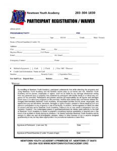 030 Employment Application Template Printable Registration throughout Camp Registration Form Template Word