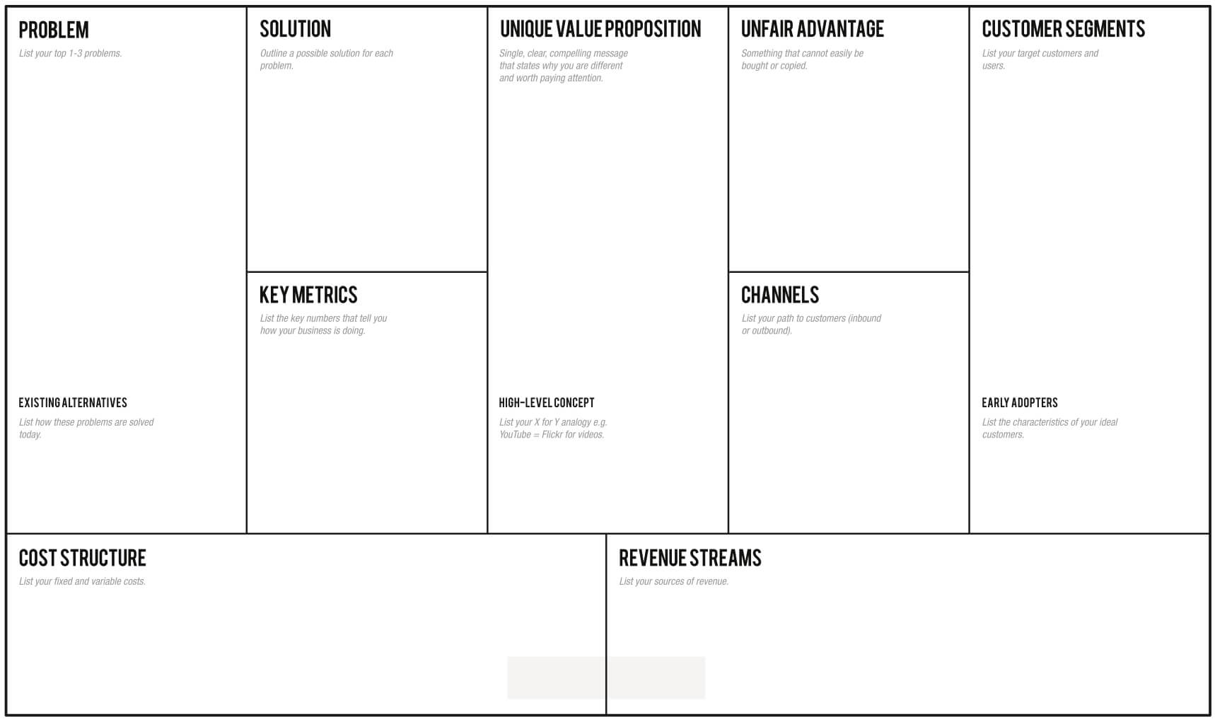1 Page Business Plan | Leanstack With Lean Canvas Word Template
