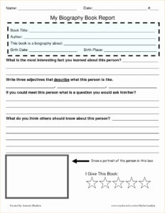 10+ Biography Book Report Template | 1Mundoreal for Biography Book Report Template