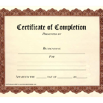 10 Certificate Of Completion Templates Free Download Images Intended For Certificate Of Completion Free Template Word