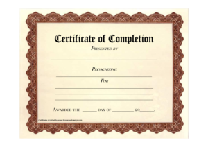 10 Certificate Of Completion Templates Free Download Images with regard to Free Completion Certificate Templates For Word