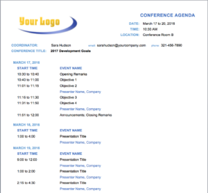 10+ Free Meeting Agenda Templates For Microsoft Word intended for Event Agenda Template Word