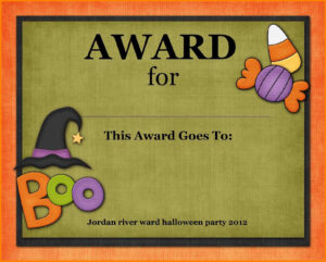 10+ Halloween Award Templates   Plastic-Mouldings intended for Halloween Costume Certificate Template