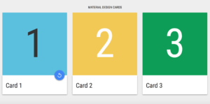 10 Material Design Cards For Web In Css & Html throughout Queue Cards Template