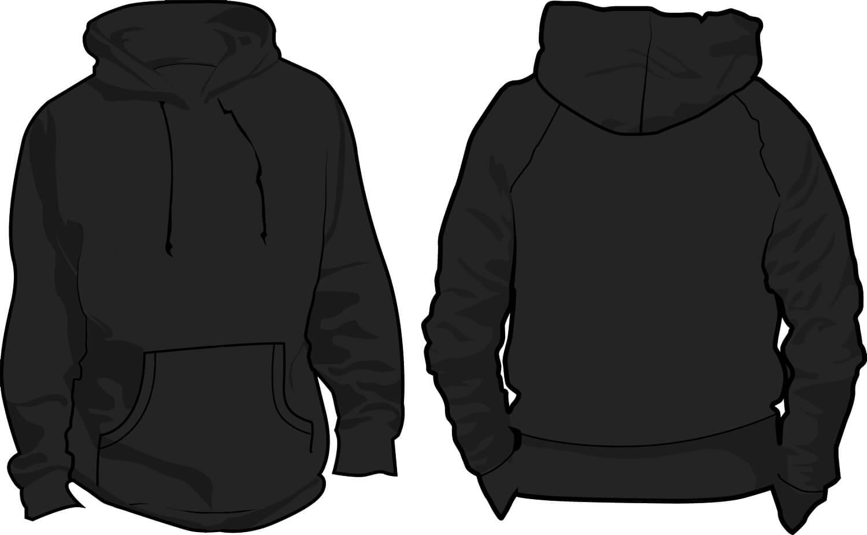 10 Pullover Hoodie Template Images – Black Blank Hoodie With Regard To Blank Black Hoodie Template
