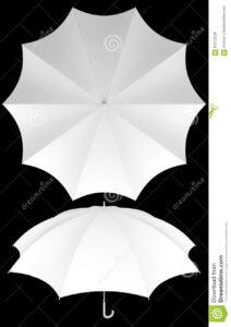 10 Rib Blank Umbrella Template Isolated Stock Photo With Regard To Blank Umbrella Template